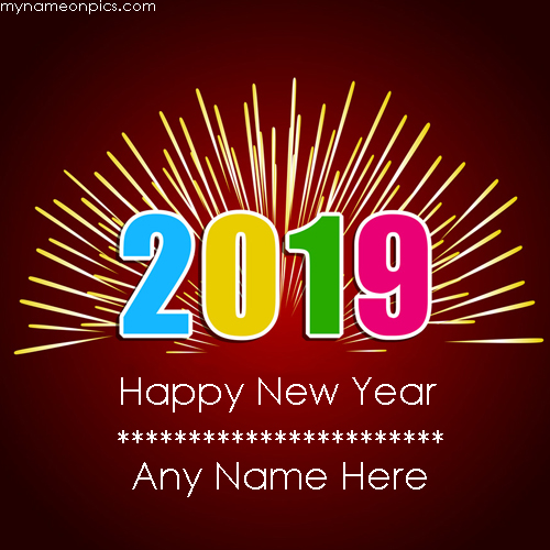 Advance Happy New Year Wishes 2019 With Name