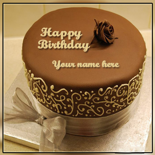 Happy Birthday Gift Cake With Name Edit – My Name On Pics