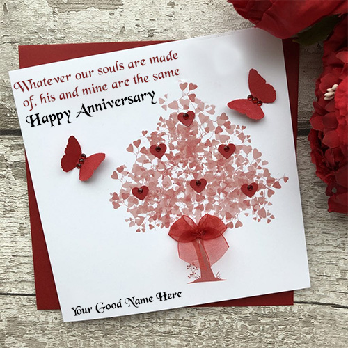 Happy Marriage Anniversary Card With Name Edit