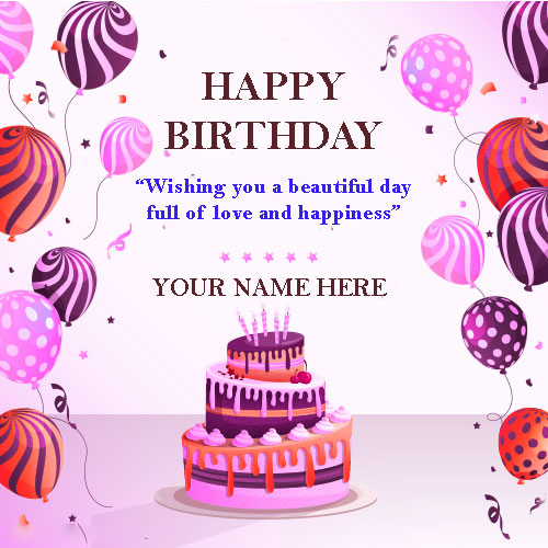 Happy Birthday Wishes Cards With Name