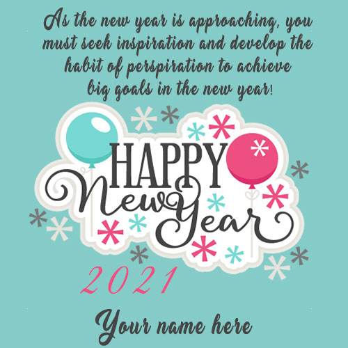 Happy New Year 2021 Image With Name Editor