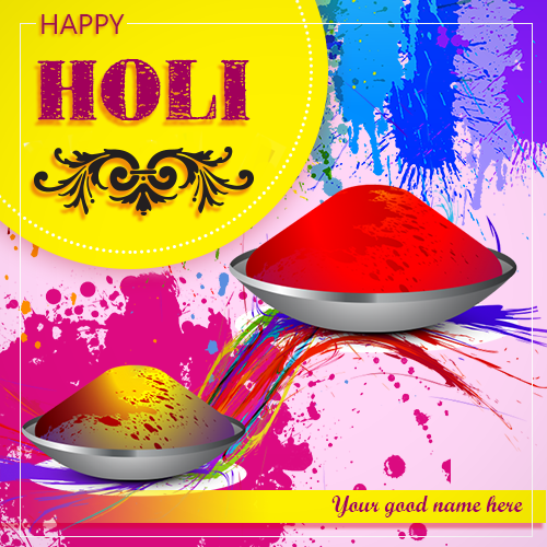 Happy Holi Whatsapp DP With Name