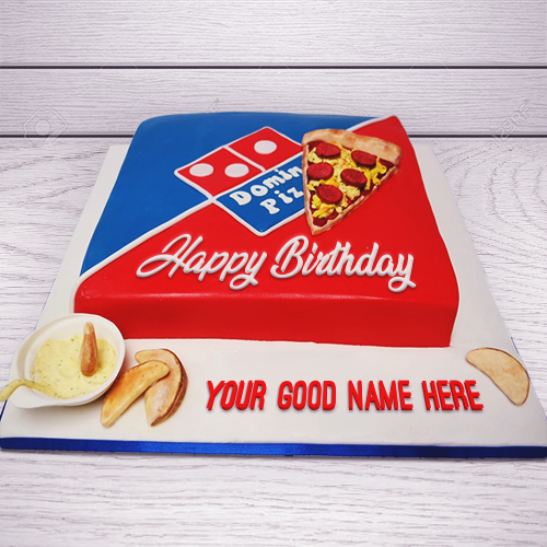 Amazing Dominos Pizza Birthday Cake With Name Funny Birthday Cards Online Alyptdamsfinfo