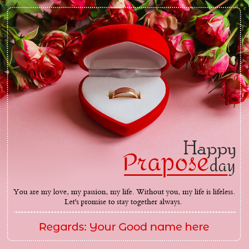 Happy Propose Day Quotes Picture With Name