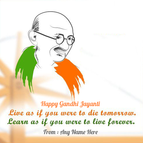 Happy Gandhi Jayanti Quotes Images With Name