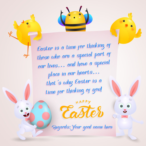 Easter Day Greeting Messages With Name
