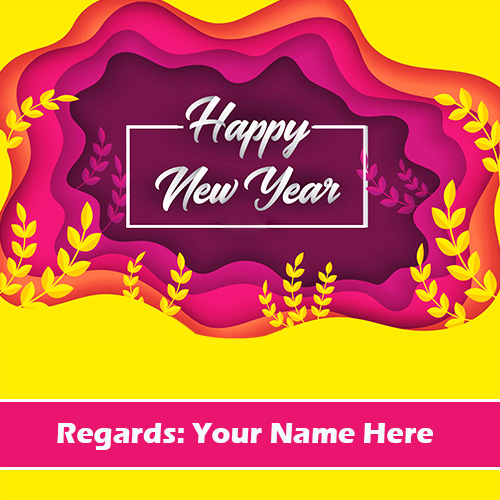 Happy New Year Wishes With Name Edit