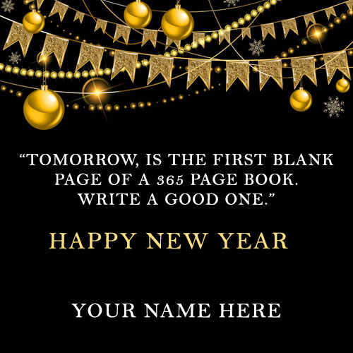 Write Name On Happy New Year Greetings Card 2021