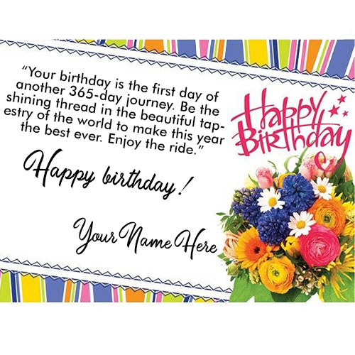 Happy Birthday Card Wishes With Name