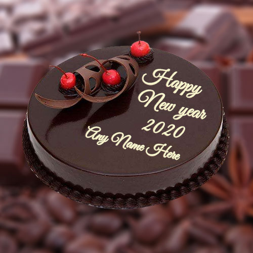 2020 Happy New Year Cake With Name and Photo