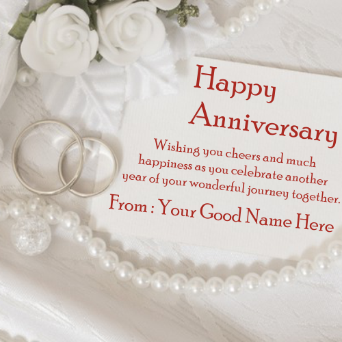 Write Name On Wedding Anniversary Rings Image
