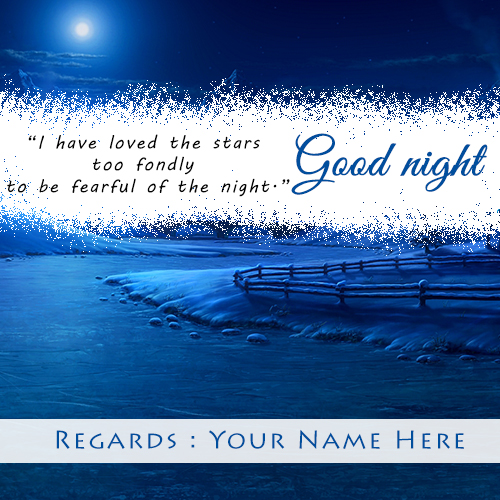 Write Name On Good Night Images With Loves