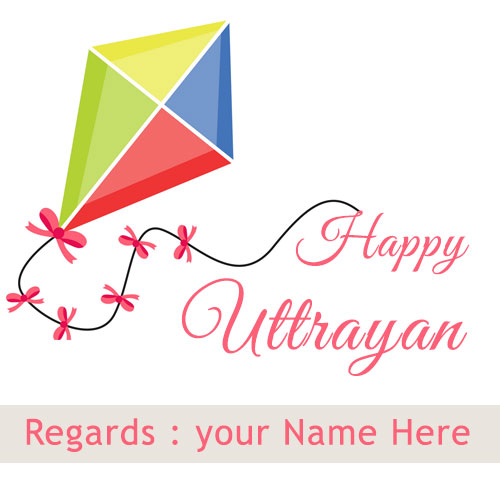 Happy Uttarayan 2020 Kite Festival With Name