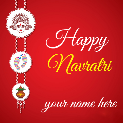 Happy Navratri 2020 Images With Name Edit