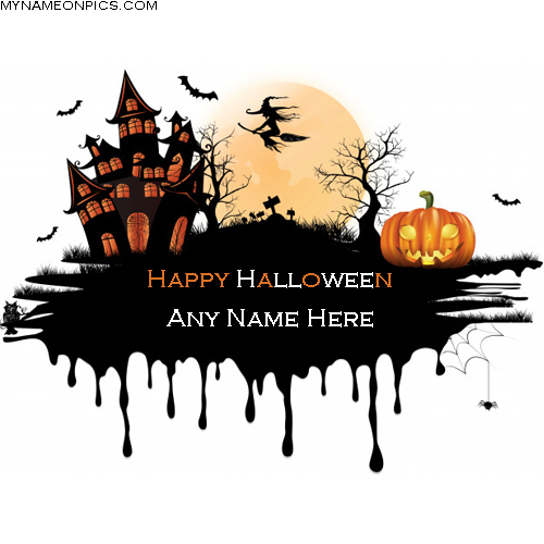 Happy Halloween Day 2018 Image With Name
