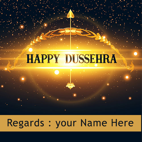 Happy Dussehra Wishes Images With Name Edit