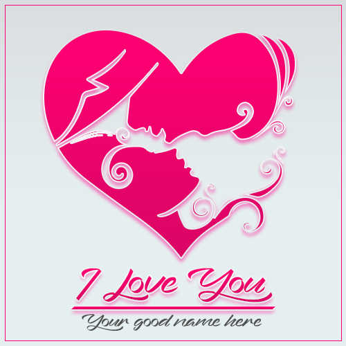 Write Name On I Love You Romantic Couple Image