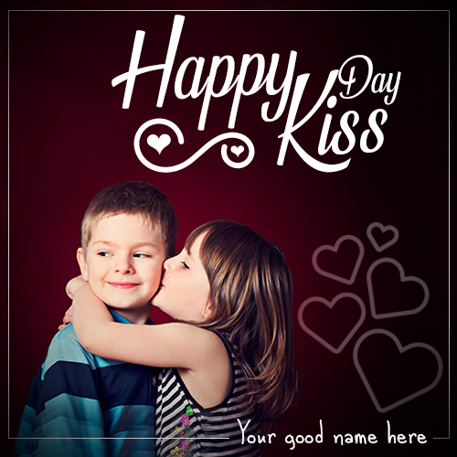 Write Name On Kiss Day Image For Lover