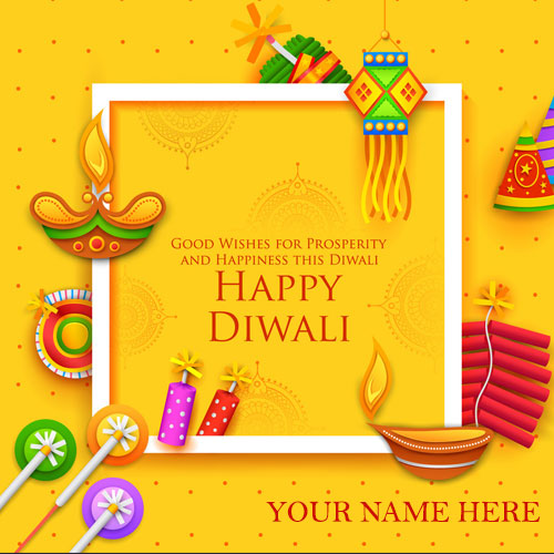 Happy Diwali Firecrackers Images 2020 With Name