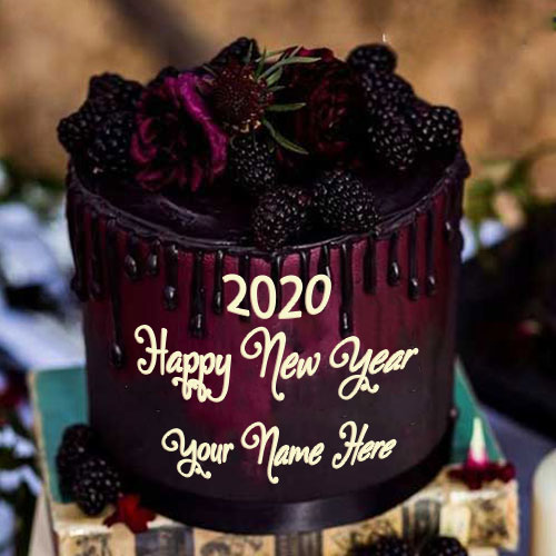 Happy New Year 2020 Cake Image With Name