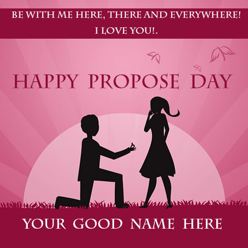 Happy Propose Day 2020 Card With Name