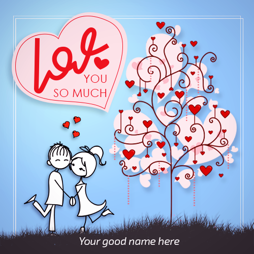 Write Name On Love Couple Image