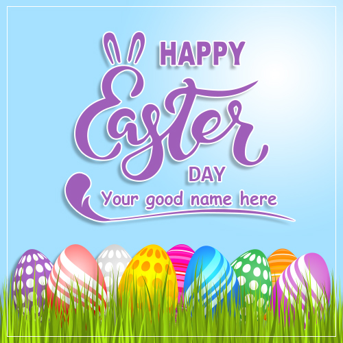 Happy Easter Day Egg Hunt 2019 Image With Name