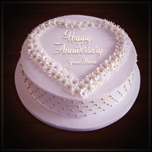 Happy Anniversary Cake With Name Edit