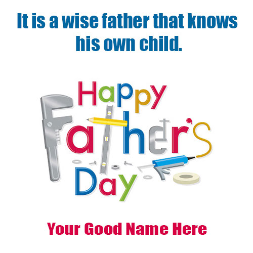 Happy Fathers Day Greetings Card 2020 With Name