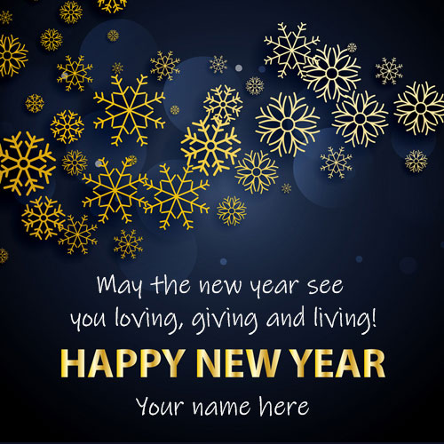 Write Name On Happy New Year Wishes Quotes Images