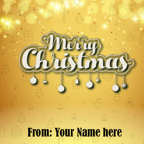 Happy Merry Christmas Day 2019 Images With name