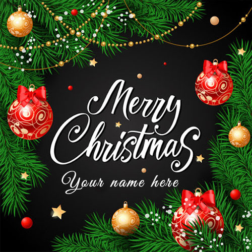 Make Your and Family Name Personalized Christmas Cards