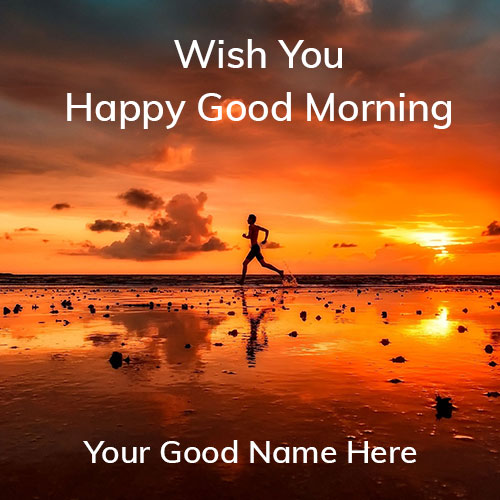 Write Name On Good Morning Picture With Name