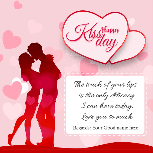 Happy Kiss Day Wishes Quotes Pics With Name
