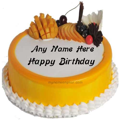Mango Maharaja Cake For Brother Birthday With Name