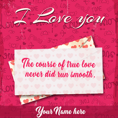 I Love You Quotes With Name and Photo