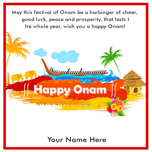 Happy Onam Festival Wishes 2020 Pictures With Name