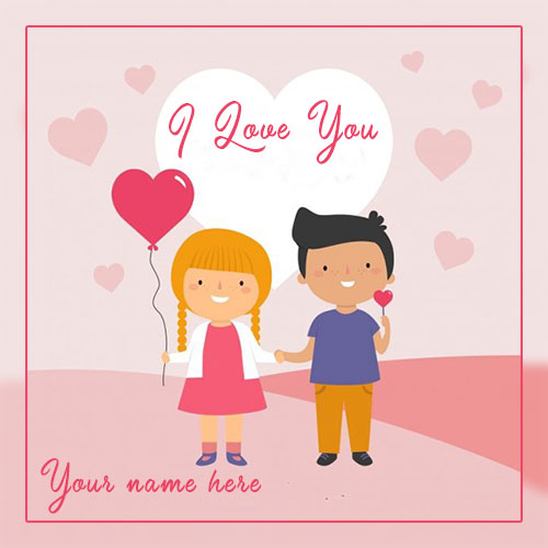 Romantic Couple I Love You Image With Name Edit