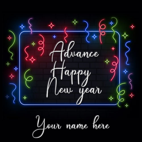Advance Happy New Year Wishes Image With Name