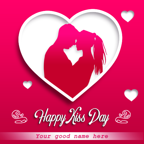 Couple Kiss Day Image With Name