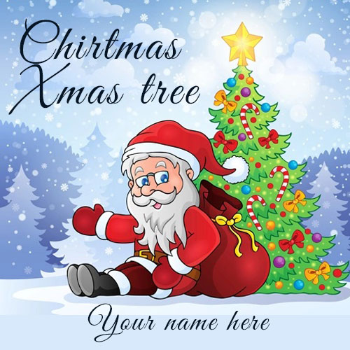 Xmas Tree Santa Claus 2020 Images With Name