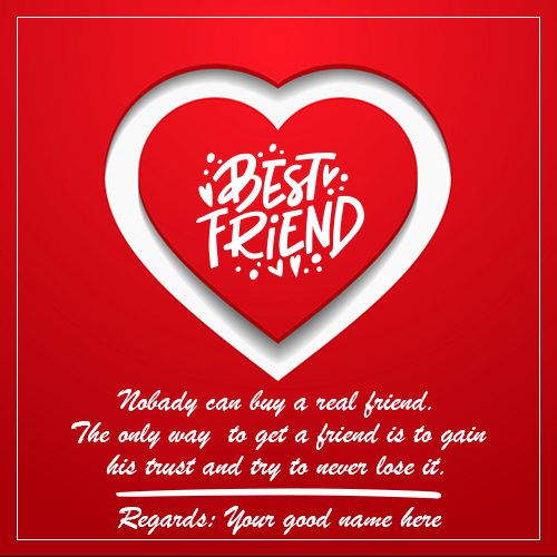 Heart Shape Best Friends Image With Name