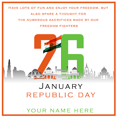 India Republic Day Wishes With Name Edit 2021 MyNameOnPics