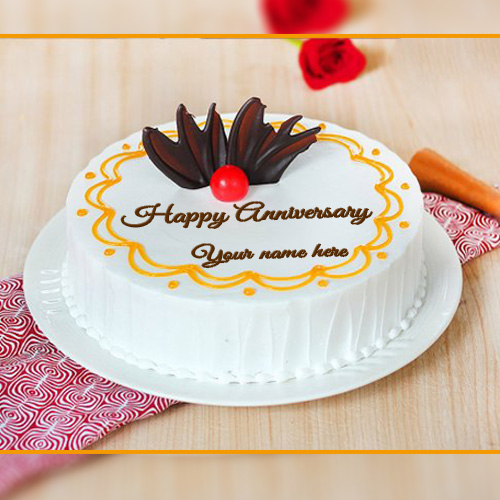 Write Name On Wedding Anniversary Cake Images With Name