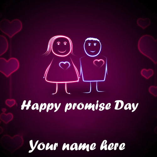 Happy Promise Day Images With Name Edit
