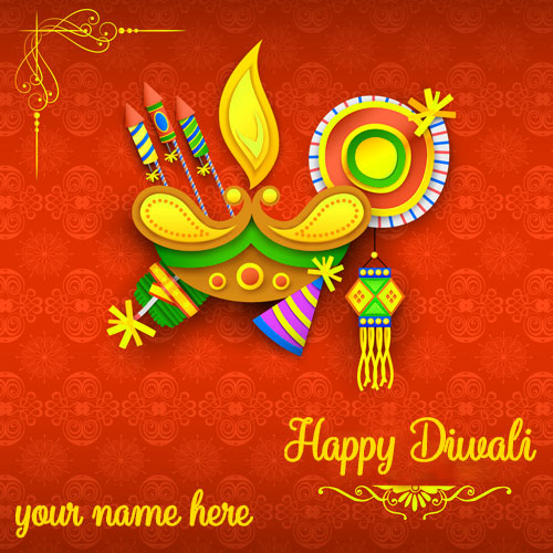 Write Name On Diwali Crackers Pictures With Name Edit