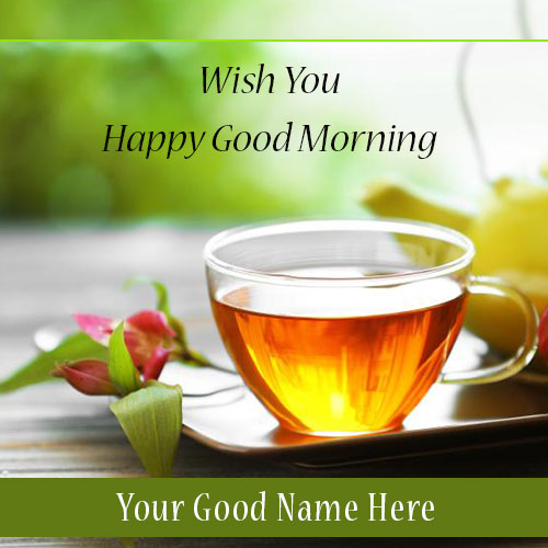 Good Morning Greeting Card With Name