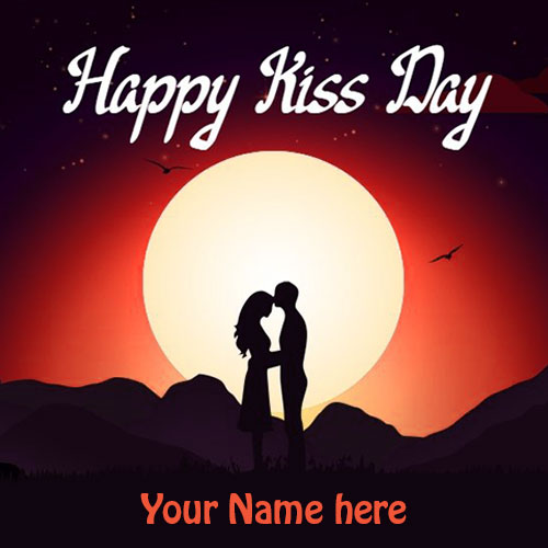 Happy Kiss Day Wishes Images With Name Edit
