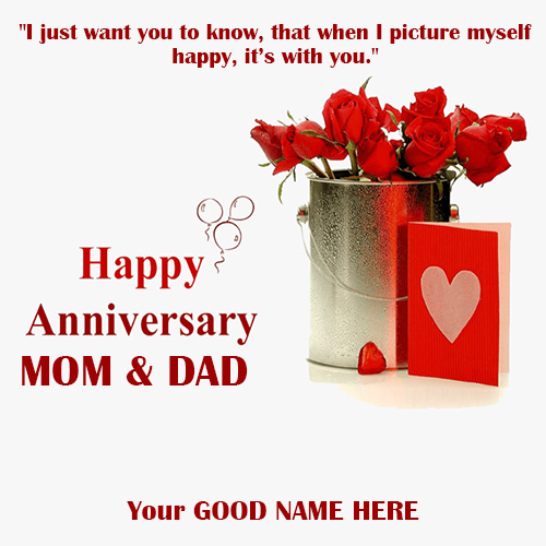 Happy Anniversary Quote Papa and Mom Images With Name