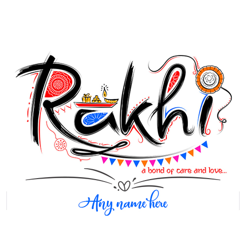 Write Name On Happy Raksha Bandhan Images